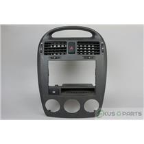 04-06 Kia Spectra 4 Door Sedan Radio Climate Center Dash Bezel Vent Rear Defrost