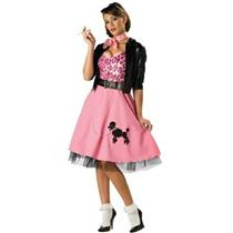 50's Bad Girl Sexy Poodle Skirt Deluxe Adult Costume Size XL