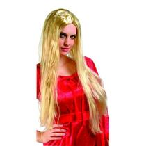 "24"" Long Straight Blonde Wig"