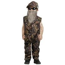 Baby Boy's Duck Hunter Jumpsuit Toddler Costume Size Large 3T-4T