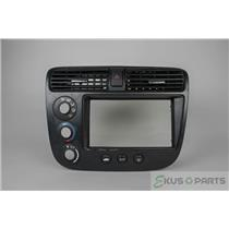2001-2005 Honda Civic Radio Climate Dash Trim Bezel with Hazard Switch and Vents
