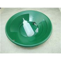 "10"" Green Gold Pan - Panning Kit , Bottle Snuffer, & Vial - Mining Prospecting"
