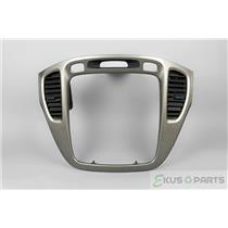 2001-2007 Toyota Highlander Radio Climate Dash Trim Bezel with Vents