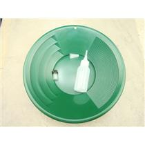 "12"" Green Gold Pan - Panning Kit , Bottle Snuffer, & Vial - Mining Prospecting"