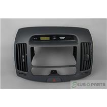 07-10 Hyundai Elantra Radio Climate Dash Trim Bezel Vent Digital Clock Indicator