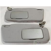 2002-2007 Subaru Impreza 2005-2006 Saab 9-2X Sun Visor Set Pair Covered Mirrors