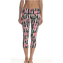 NWT Lululemon Wunder Under Crop Pant Fullon Lux Palm Play Floral Black/Striped