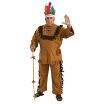 Native American Warrior Plus Size Adult Costume