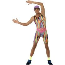 Smiffy's Men's Aerobics Instructor Mr Energizer Costume Size Medium