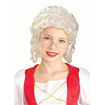 Historical White Colonial Girl Child Wig