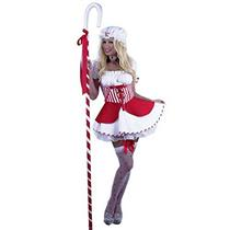 Adult Sexy Little Bo Peep Red and White Adult Costume Size Medium 8-10