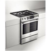 "Bosch Benchmark 30"" 5 Sealed Burners Slide-in Gas Range Stainless HGIP054UC"