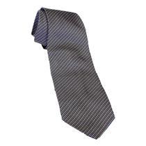 """56""""  Luciano Gatti Blue Beige Brown Tiny Square Print Italian Silk Neck Tie"""