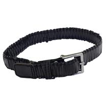 NWT Antik Denim Mens Black Leather Woven Braided Belt Silver Square Buckle WOW
