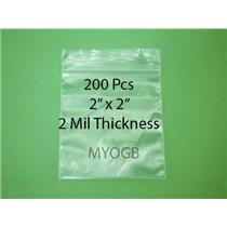 "200pcs 2"" x 2"" Zip Lock Plastic Bags-Storage-Jewerly-Parts-Gold Nuggets"