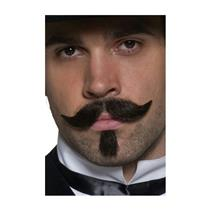 Authentic Western Gambler Moustache & Chin Hair Facial Costume Disguise
