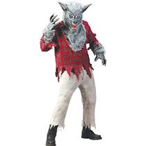 Deluxe Werewolf 4 Piece Adult Costume Gray