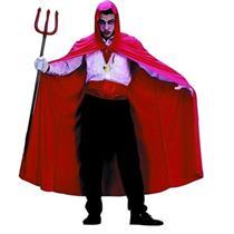 """Red Nylon Hooded Cape Full Length 56"""""""