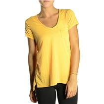 NWT Alternative Apparel Favorite SOFT TISSUE Tee Boxy Pocket Buttercup Yellow