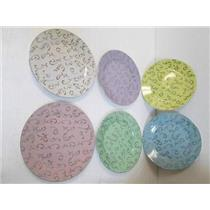"""Classic Coffee & Tea CC162 Decorative 7-1/2"""" Plates in six Different Colors  NEW"""