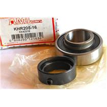 "AMI KHR205-16 INSERT BALL BEARING, 1"" BORE, NARROW INNER RING"