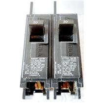 *2pc/LOT* ITE BQ1B020H CIRCUIT BREAKER, BQH TYPE, 20A 1POLE 120/240VAC, 20 AMP