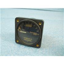 #1 ELECTRIC AUTO-LITE AC-26287 10058-A HYDRAULIC PRESSURE GAUGE (GUAGE, GAGE),