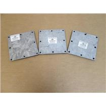 **Lot of 3** Cross Bros.  Gasketed Cover Plate for 6x6 Pull Box (Galvanized)