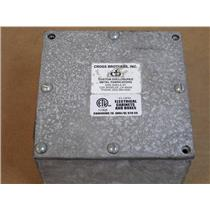 Cross Bothers, Inc. Galvanized 6x6x4 Gasketed Type 3 Screw Cover Pull Box