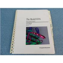 The Model 610A Data Analysis Program User Manual P/N 903257 Software Version 2.0