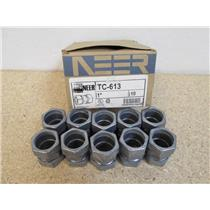 "**Box of 10**  EGS/NEER  TC-613  1"" Compression Type EMT Couplings"
