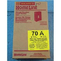 Square D Homeline 70A Indoor Circuit Breaker Load Center HOM24L70SCP