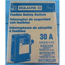 Square D Homeline 30A Indoor Fusible Safety Switch D211NCP