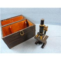 Spencer Microscope Vintage With Case