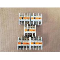 **Lot of 5** Fuji Electric SZ-A40 Auxiliary Contact Block, 600V, 10A