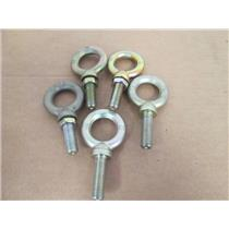 "(5) MFG Unknown M16/C20 Shouldered Lifting/Anchor Eye Bolts, CMU800KG, 1/2"" NPT"