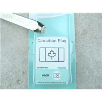 """""""Canadian Flag"""" 1/4""""-6mm-Large Stamp-Metal-Hardened Steel-Gold & Silver Bar"""