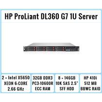 HP ProLiant DL360 G7 1U Server 2×Six-Core Xeon 2.66GHz + 32GB RAM + 8×146GB RAID