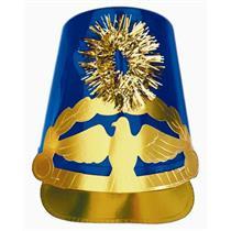 Blue Plastic Drum Major Hat