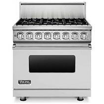 "Viking Professional 7 Series VDR7366BSS 36"" Pro-Style Dual-Fuel Range"