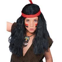 Boys Li'l Brave Native American Male Indian Costume Wig