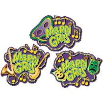 Mardi Gras Colorful Festive Cutouts Party Decorations