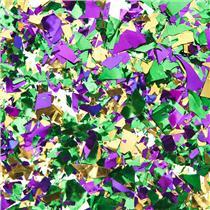 Festive Gold Green Purple Foil Mardi Gras Confetti