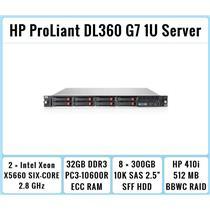 HP ProLiant DL360 G7 1U Server 2×Six-Core Xeon 2.8GHz + 32GB RAM + 8×300GB RAID