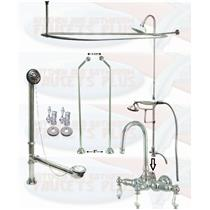 CCK2181PL Chrome Clawfoot Tub Faucet Kit