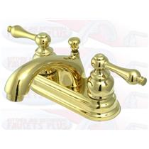 Kingston Bathroom Sink Faucet Polished Brass KB2602AL