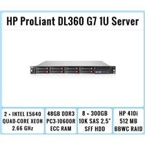 HP ProLiant DL360 G7 1U Server 2xQuad-Core Xeon 2.66GHz + 48GB RAM + 8x300GB SAS