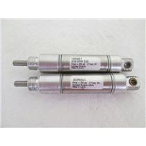 "(2) Parker/Lin-Act .56DXPSR0.50 Crimped Round Body Pneumatic Cylinder,9/16"" Bore"