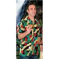 Tropics Express Island Rayon Men's Hawaiian Camp Shirt Size XL