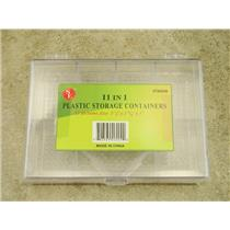 """11 In 1 Plastic Storage Containers 5-1/2"""" x 3-15/16"""" x 1"""" Jewelry, Bead, Craft"""